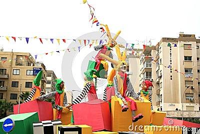 Karneval Redaktionell Arkivfoto