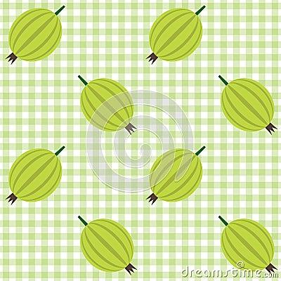 Karomuster mit Stachelbeere