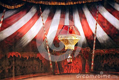 Karromato wooden circus at Bahrain, June 29, 2012 Editorial Stock Image