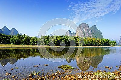 Karst mountain landscape in Yangshuo Guilin,