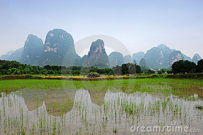 Karst scenery in Guangxi province, China