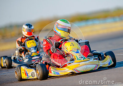 Kart pilots Editorial Photography