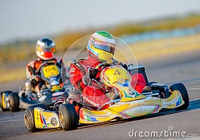 Kart pilots Editorial Photography