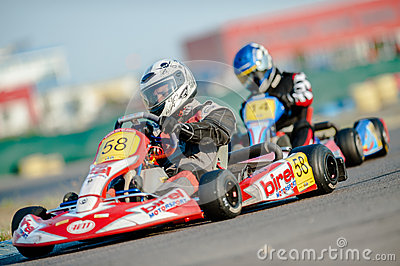 Kart pilots Editorial Stock Image