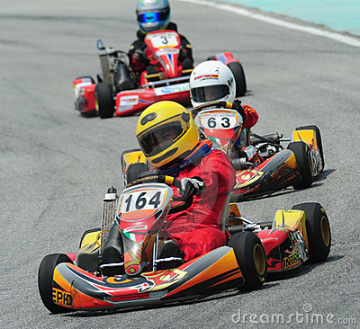 Kart Racing Editorial Stock Image