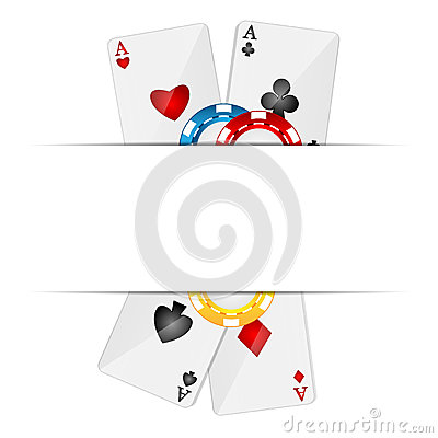 Karta do gry i grzebaków układy scaleni
