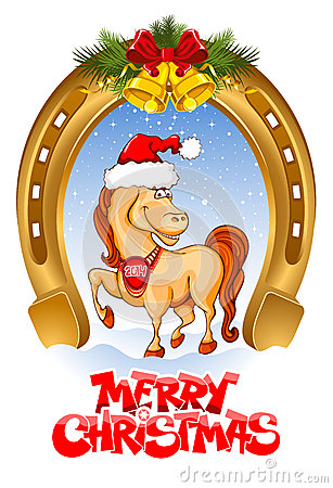 Karte der frohen Weihnachten