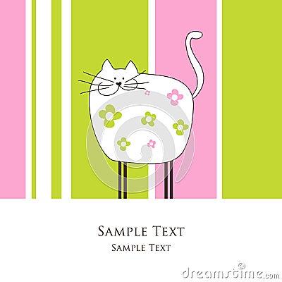 Karte mit Katze