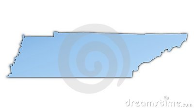 Karte Tennessee-(USA)