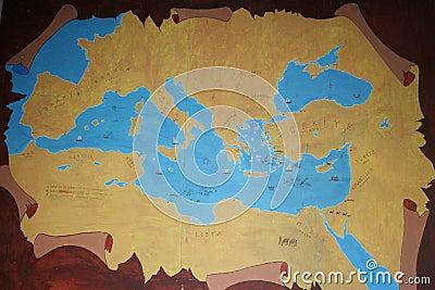 Karte von altem Anatolia