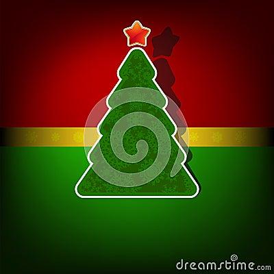 Kartenschablone der frohen Weihnachten. ENV 8
