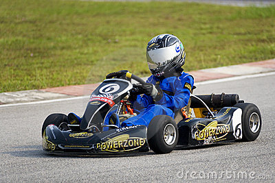 Karting Action Editorial Photography
