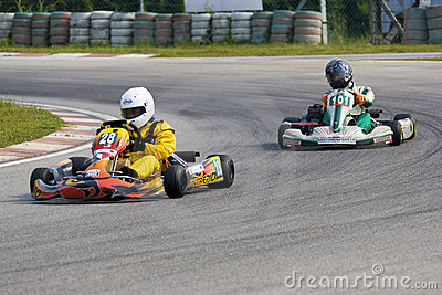 Karting Action Editorial Stock Image