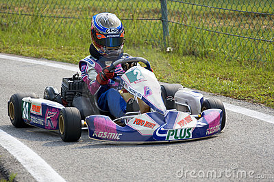 Karting Action Editorial Image