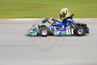 Karting Action (Blurred) Editorial Stock Photo
