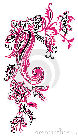 Free Kashmir Fashion Floral Paisley Royalty Free Stock Photos - 11496228