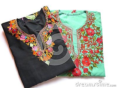Kashmiri Embroidery Kurtis