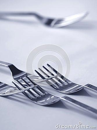 Kasserad gaffel
