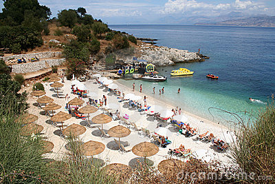 Kassiopi Beach, Corfu, Greece.