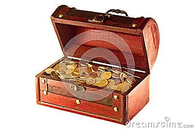 Kasten mit Münzen
