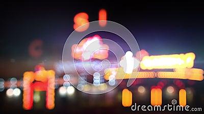 Kasynowi światła przy nocy pętlą
