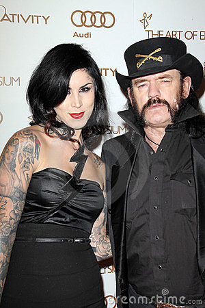 Kat Von D, Lemmy Kilmister Editorial Stock Photo