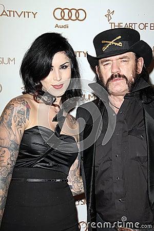Kat Von D, Lemmy Kilmister Editorial Stock Photo