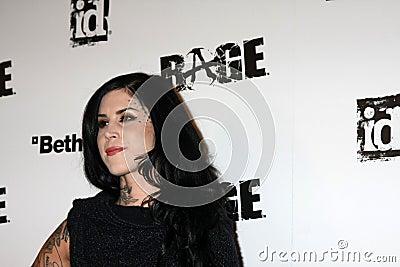 Kat Von D, Rage Editorial Image