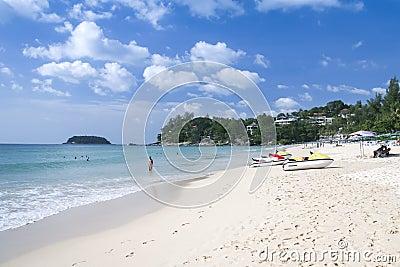 Kata beach tourists phuket island thailand