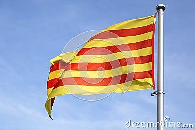 Katalanische Markierungsfahne