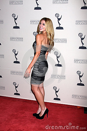 Kate Mansi arrives at the ATAS Daytime Emmy Awards Nominees Reception Editorial Photography