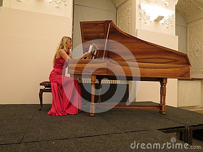 Katerina Chrobokova (harpsichord) Editorial Photography