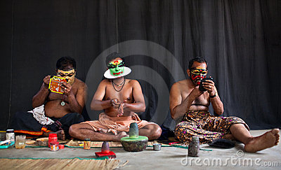 Kathakali actors make-up Editorial Image