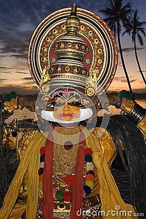 Kathakali Dancer - Cochin - India Editorial Photography