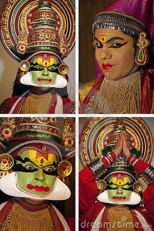 Kathakali Dancer - Cochin in India Editorial Image