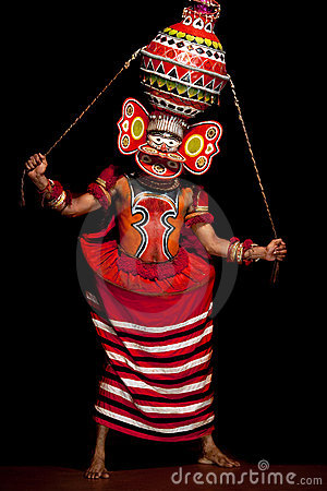 Kathakali performer Editorial Stock Image