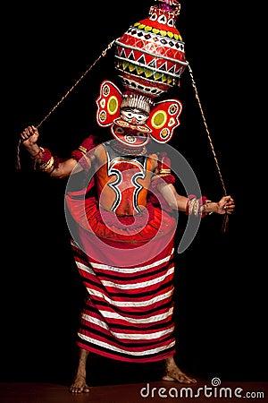 Kathakali performer Editorial Stock Image
