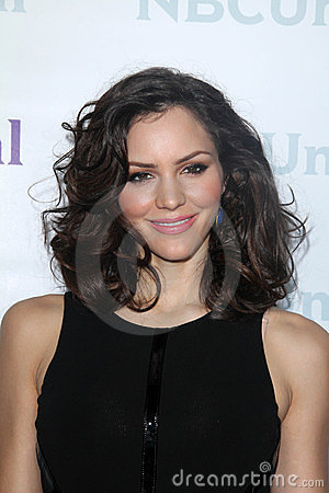 Katharine McPhee at the NBCUNIVERSAL Press Tour All-Star Party, The Athenaeum, Pasadena, CA 01-06-12 Editorial Stock Image