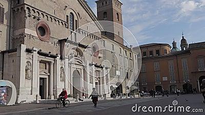Kathedrale Reggio Emilia Time Lapse stock footage