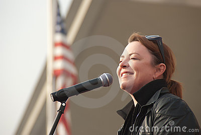 Kathleen Madigan with the Troops Editorial Image
