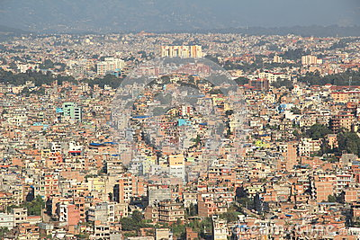 Kathmandu City Top View. Editorial Photo