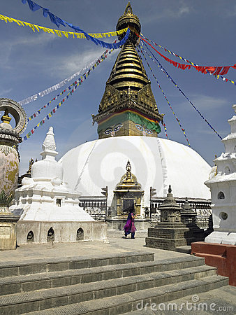 Kathmandu - Swayambhunath - Nepal Editorial Photo