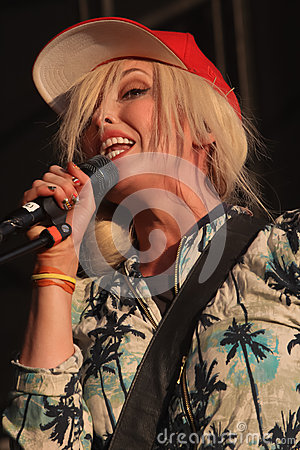 Katie White of the Ting Tings. Editorial Stock Image