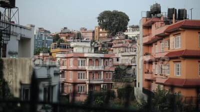 Katmandu, Nepal Stäng vyn arkivfilmer