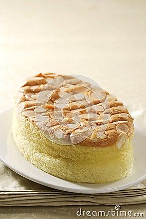 Katoenen van de amandel cake