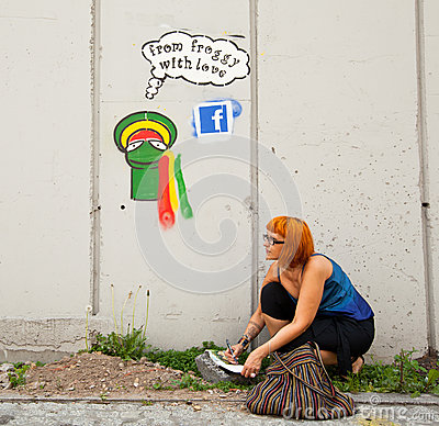 Katowice Street Art Festival Editorial Photography