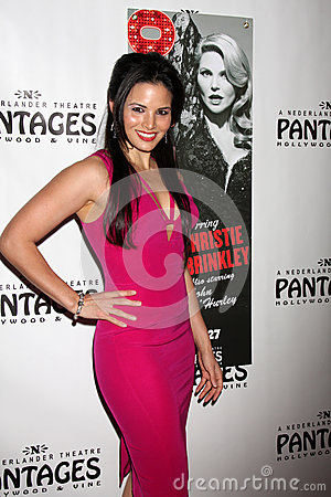 Katrina Law arrives at the Opening Night of the Play Editorial Stock Image
