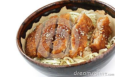 Katsudon ( Pork Cutlet Bowl ), Japanese Food Stock Image - Image ...