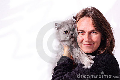 Katt henne kvinna