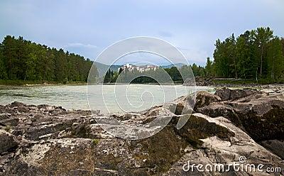 Katun river and mountains